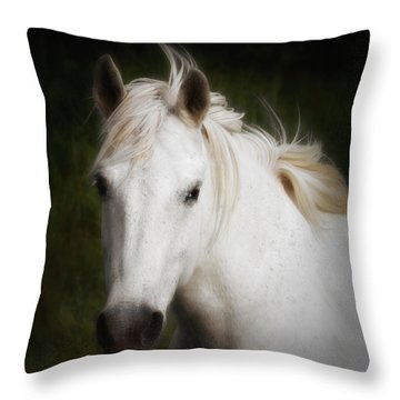 Carmargue Horse Throw Pillow