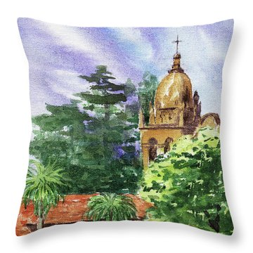 Carmel By The Sea Basilica Throw Pillow