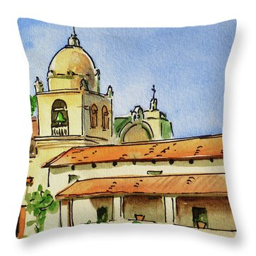 Carmel By The Sea - California Sketchbook Project  Throw Pillow by Irina Sztukowski