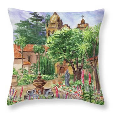 Carmel By The Sea Mission Throw Pillow