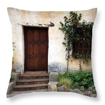 Carmel Mission Door Throw Pillow