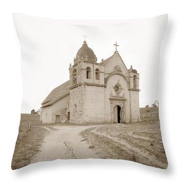 Carmel Mission South Side Circa 1915 Throw Pillow