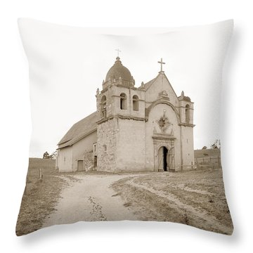 Carmel Mission South Side Circa 1915 Throw Pillow