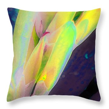Throw Pillow featuring the photograph Carmellas Lily 1 by Kate Word