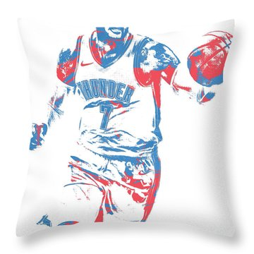 Carmelo Anthony Oklahoma City Thunder Pixel Art 3 Throw Pillow
