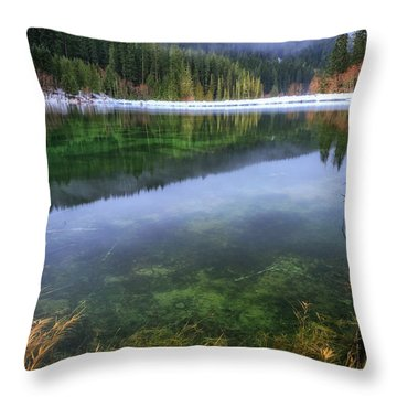 Throw Pillow featuring the photograph Carmen Reservoir by Cat Connor