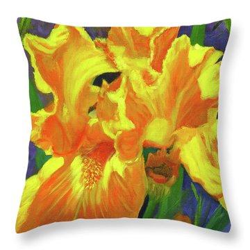 Carmen's Iris Throw Pillow
