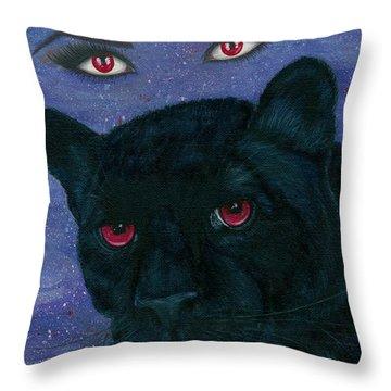 Carmilla - Black Panther Vampire Throw Pillow