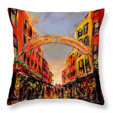 Carnaby Street London Throw Pillow