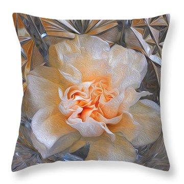 Carnation In Cut Glass 7 Throw Pillow