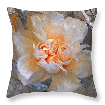 Carnation In Cut Glass 7 Throw Pillow