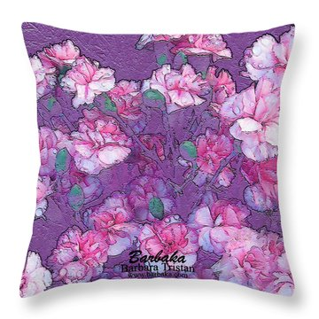 Throw Pillow featuring the digital art Carnation Inspired Art by Barbara Tristan