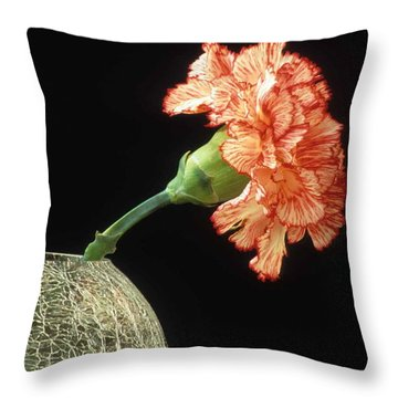 Carnation Throw Pillow by Laurie Paci