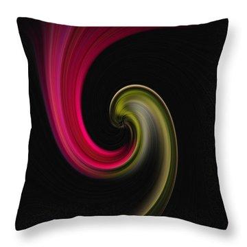 Carnation Twirl Throw Pillow