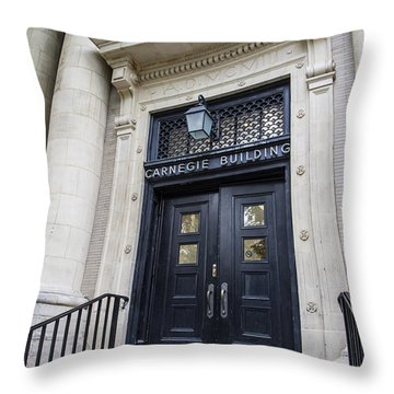 Carnegie Building Penn State  Throw Pillow by John McGraw