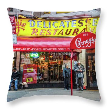 Carnegie Deli Throw Pillow