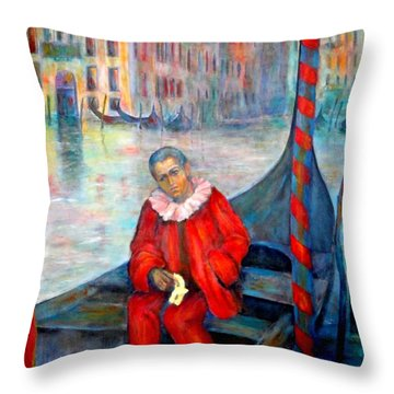 Carnaval In Venice Throw Pillow