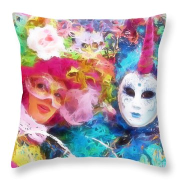 Carnevale Throw Pillow