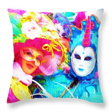 Carnevale Two Throw Pillow