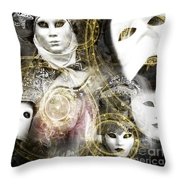 Throw Pillow featuring the photograph Carnevale Venezia by John Rizzuto