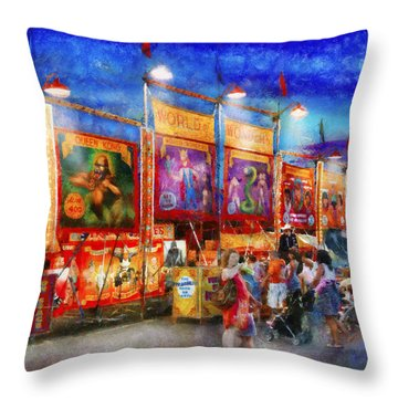 Carnival - World Of Wonders Throw Pillow by Mike Savad