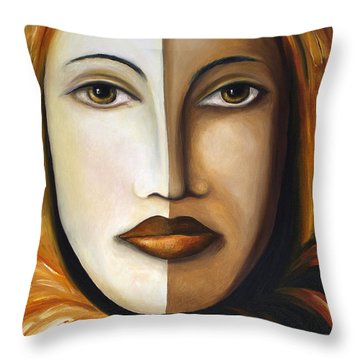 Carnival 4 Throw Pillow by Leah Saulnier The Painting Maniac