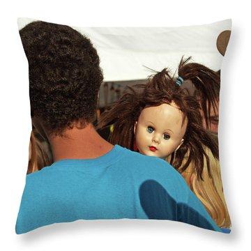 Throw Pillow featuring the photograph Carnival Adoption by Joe Jake Pratt