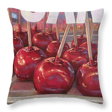 Carnival Apples Throw Pillow