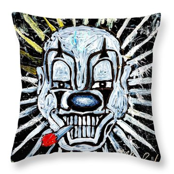 Carnival Clown Throw Pillow