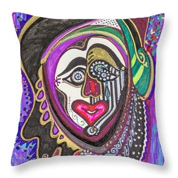 Carnival Face Throw Pillow