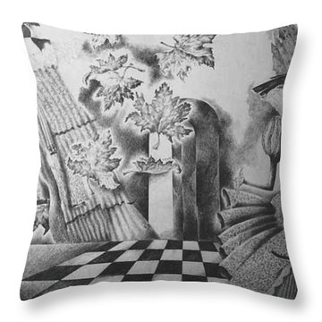 Carnival I Throw Pillow by Yelena Revis