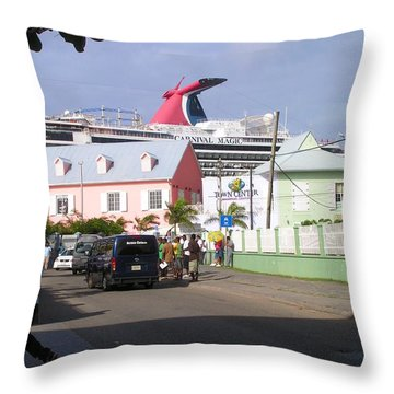 Carnival In Town Throw Pillow
