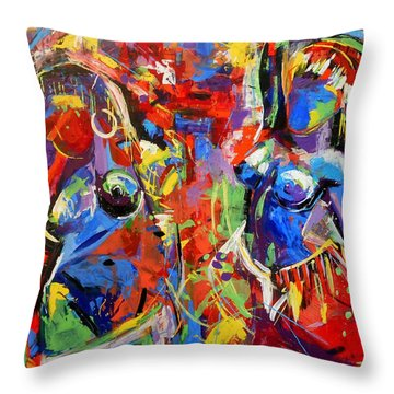 Carnival- Large Work Throw Pillow