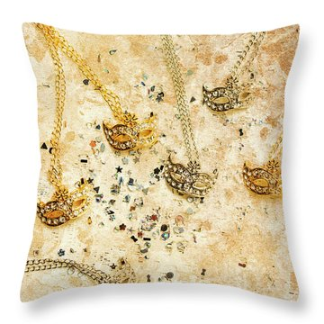 Carnival Masquerade Jewels Throw Pillow