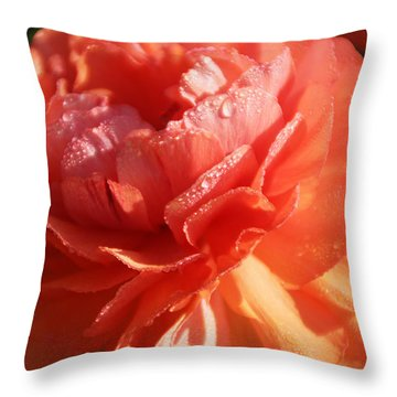 Carnival Of Flowers Throw Pillow