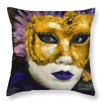 Carnival Of Venice Throw Pillow