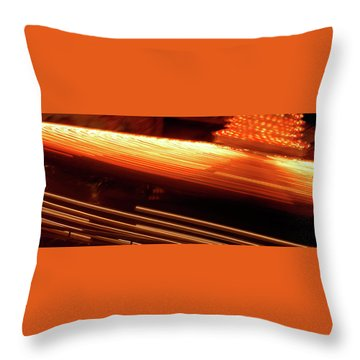 Carnival Ride Lights Throw Pillow
