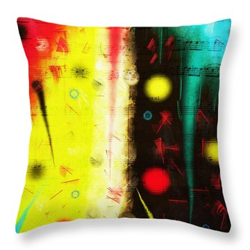 Throw Pillow featuring the digital art Carnival by Silvia Ganora