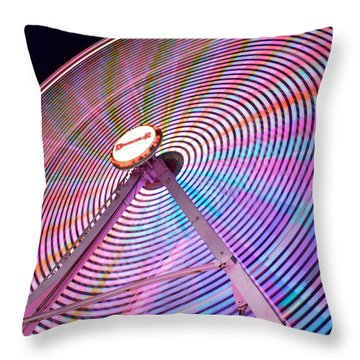 Carnival Spectacle Throw Pillow
