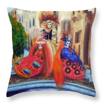 Carnival Time I Throw Pillow