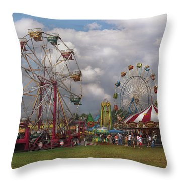 Carnival - Traveling Carnival Throw Pillow by Mike Savad
