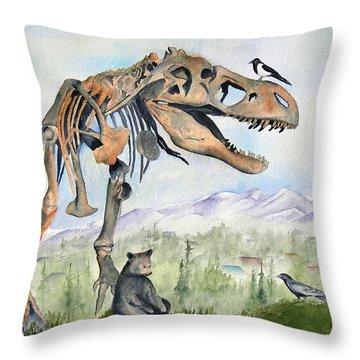 Carnivore Club Throw Pillow