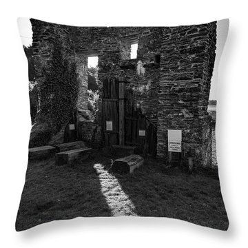 Throw Pillow featuring the photograph Photographs Of Cornwall Carnon Mine by Brian Roscorla