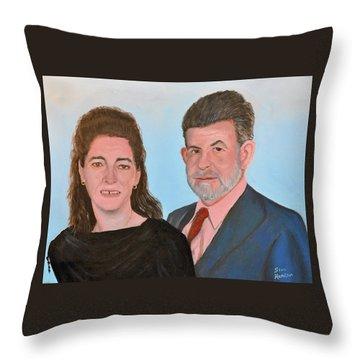 Carol And Max Throw Pillow