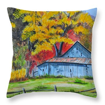 Carolina Barn Throw Pillow