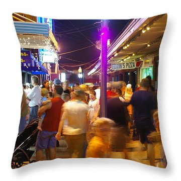Carolina Beach Boardwalk July 2006 Throw Pillow