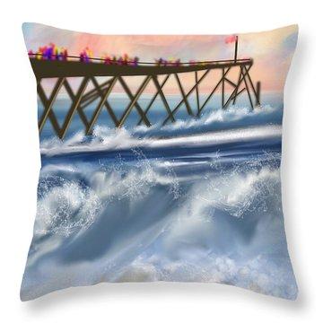 Carolina Beach Throw Pillow