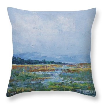 Carolina Country Blues Throw Pillow