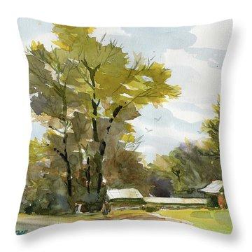Carolina Farm Field Throw Pillow