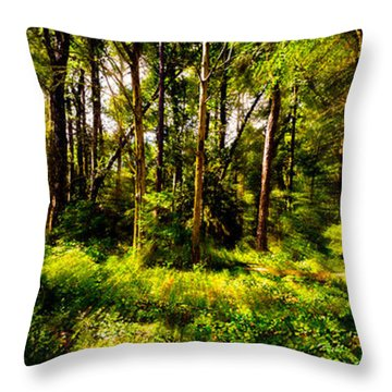 Carolina Forest Throw Pillow